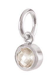 PERNILLE CORYDON Star Stone Silver Charm - Rock Crystal