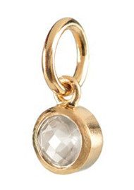 PERNILLE CORYDON Star Stone Gold Charm - Rock Crystal