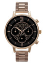 Chrono Detail Black Dial Bracelet Watch - Rose Gold additional image