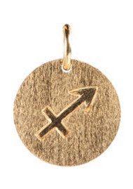 PERNILLE CORYDON Zodiac Sign Gold Charm - Saggittarius
