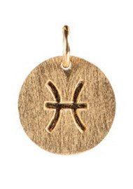 PERNILLE CORYDON Zodiac Sign Gold Charm - Pisces