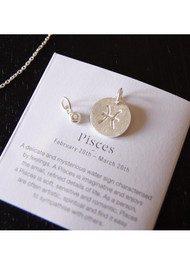 PERNILLE CORYDON Zodiac Sign Silver Charm - Aquarius