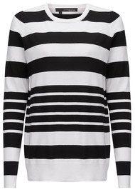 360 SWEATER Portola Striped Jumper - White & Black