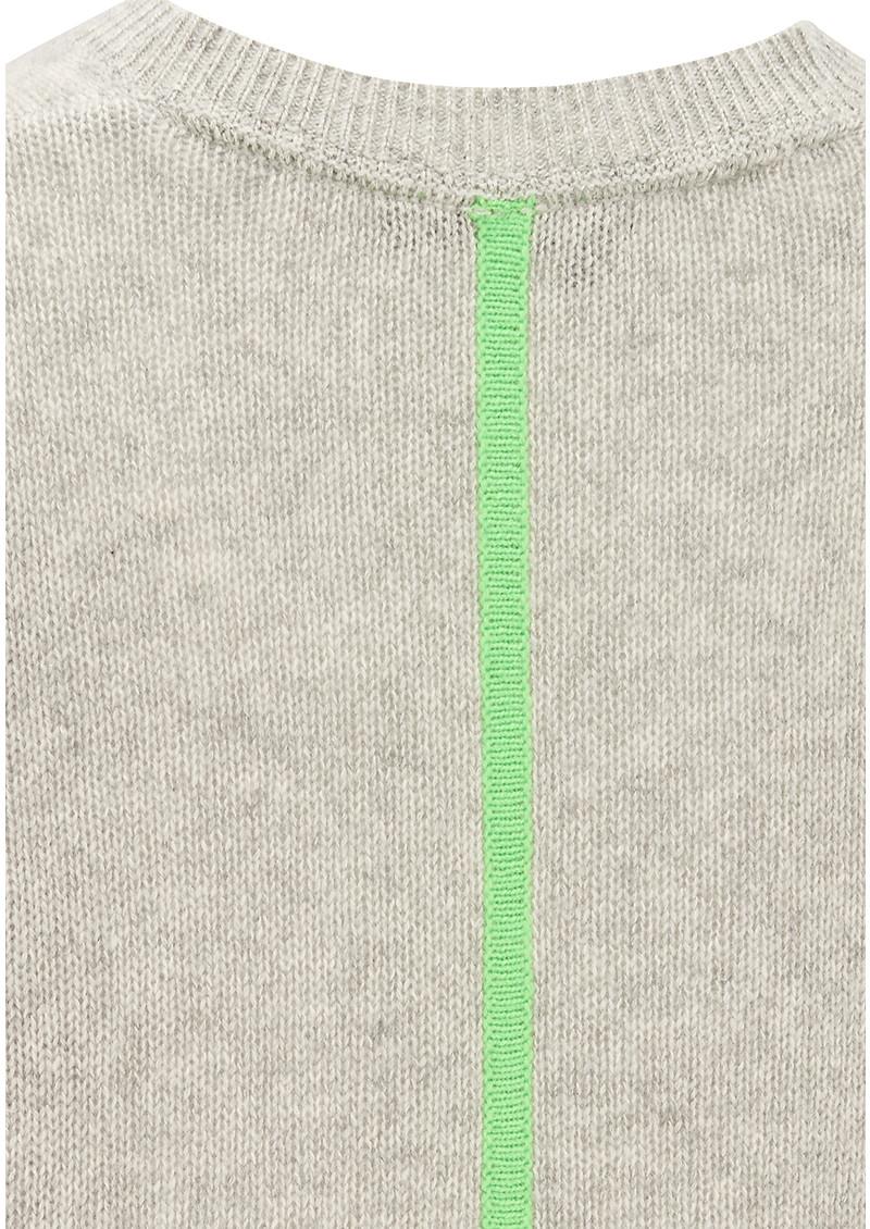 360 SWEATER Rosemead Cashmere Jumper - Grey & Kermit main image