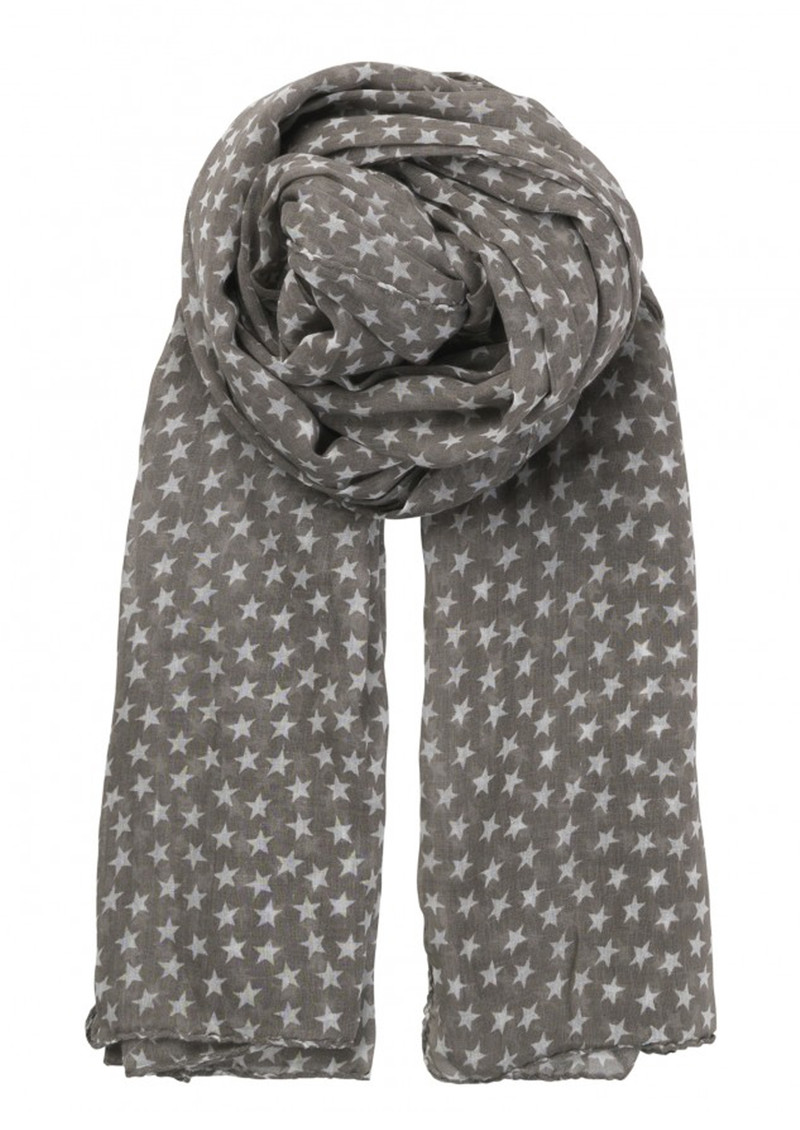 Becksondergaard Fine Summer Star Cotton Scarf - Mouse main image