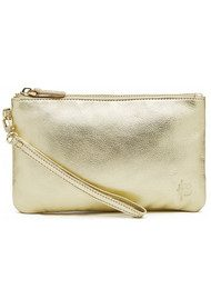 MIGHTY PURSE Mighty Purse Wristlet Clutch - Gold Metallic