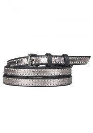 Becksondergaard V-Tome Leather Belt - Warm Silver