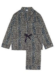 Mercy Delta Dormy Pyjama Set - Micro Safari Blueberry