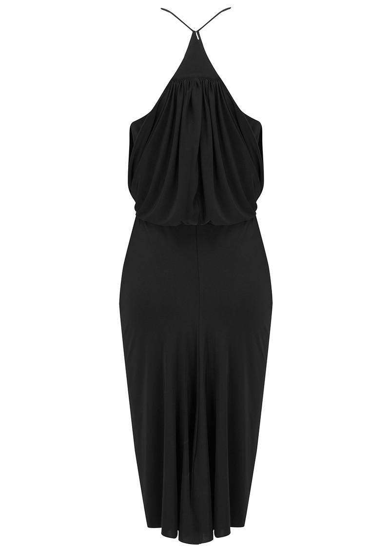 MISA Los Angeles Front Tie Waist Dress - Black main image